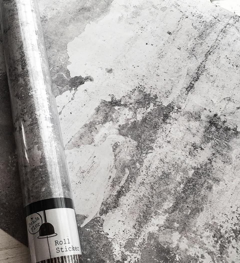 Concrete Gray Roll Sticker Image