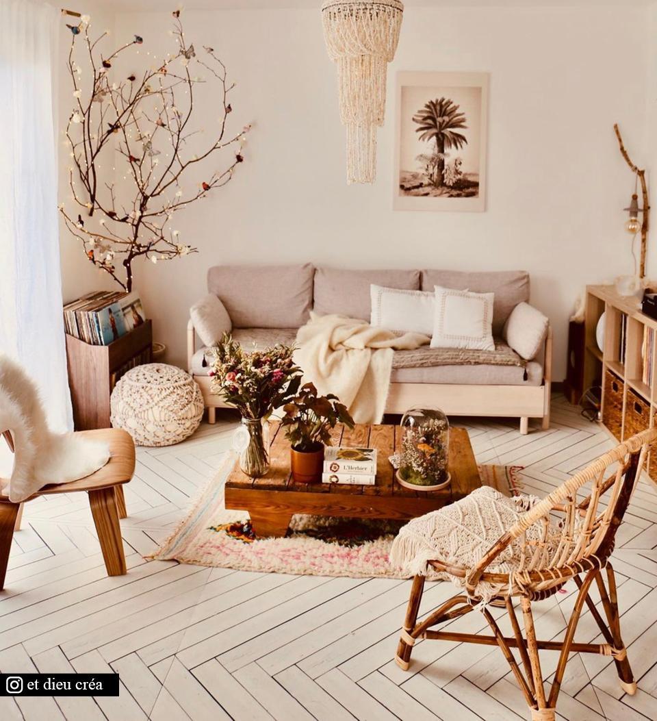White Wood Fishbone – Modu Floor Image